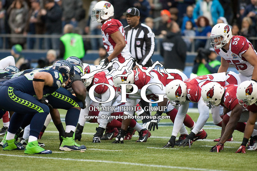 DEC 09, 2012:  Arizona special teams against the Seattle Seahawks.  Seattle defeated Arizona 58-0 at CenturyLink Field in Seattle, WA...