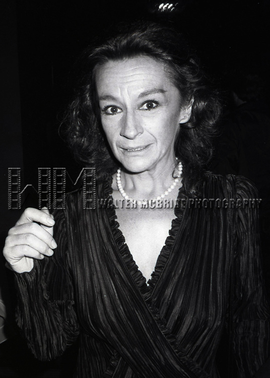 Zoe Caldwell at the Waldorf Astoria Hotel on Jume 3, 1983 in New York City.