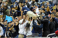 26 December 2010:  FIU fans celebrate a touchdown in the second half as the FIU Golden Panthers defeated the University of Toledo Rockets, 34-32, to win the 2010 Little Caesars Pizza Bowl at Ford Field in Detroit, Michigan.
