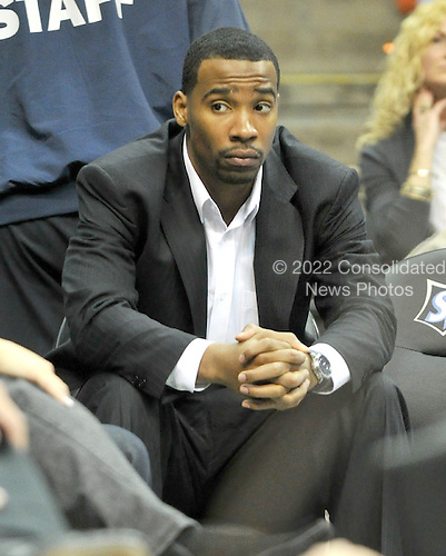 Washington, DC - January 2, 2010 -- Washington Wizards guard Javaris Crittenton watches the fourth quarter action against the San Antonio Spurs at the Verizon Center in Washington, D.C. on Saturday, January 2, 2010.  The Spurs won the game 97 - 86..Credit: Ron Sachs / CNP..(RESTRICTION: NO New York or New Jersey Newspapers or newspapers within a 75 mile radius of New York City)