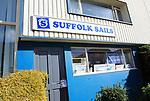 Suffolk Sails business on waterfront atWoodbridge, Suffolk, England, UK