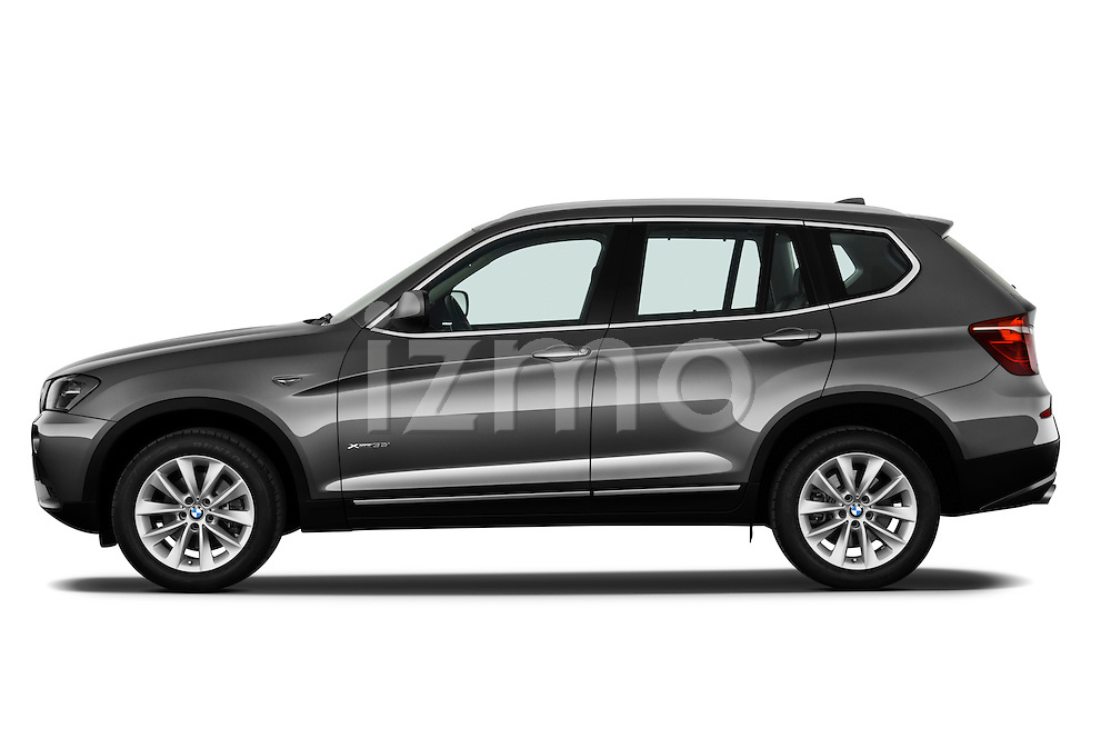 Driver side profile view of a 2011 BMW X3 xDrive35i SUV