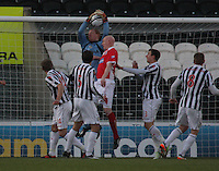 Craig Samson gathers the ball in the St Mirren v Brechin City William Hill Scottish Cup Round 4 match played at St Mirren Park, Paisley on 1.12.12.