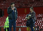 Michael Carrick of Manchester United shares a joke with Coleen Ronney during the Premier League match at the Old Trafford Stadium, Manchester. Picture date: November 27th, 2016. Pic Simon Bellis/Sportimage