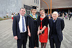 24/10/2014  With Compliments,  Attending the Mary Immaculate College Conferrings were Laura Galvin, Tullamore, Offally, who was conferred with a Bachelor of Education (B.Ed) with Michael and Catherine Galvin, Tullamore, Offally and Noel Galvin, Daingan, Offally.<br /> Pic: Gareth Williams / Press22