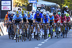 Belgian team on the front of the race during the Men Junior Road Race of the 2018 UCI Road World Championships running 132.4km from Wattens to Innsbruck, Innsbruck-Tirol, Austria 2018. 27th September 2018.<br /> Picture: Innsbruck-Tirol 2018/Dario Belingheri/BettiniPhoto | Cyclefile<br /> <br /> <br /> All photos usage must carry mandatory copyright credit (© Cyclefile | Innsbruck-Tirol 2018/Dario Belingheri/BettiniPhoto)