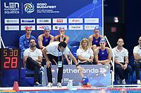 HAVENGA Arno NED Coach, 8 NED SEVENICH Vivian Netherlands  <br /> Budapest 13/01/2020 Duna Arena <br /> GERMANY (white caps) Vs. NETHERLANDS (blue caps)<br /> XXXIV LEN European Water Polo Championships 2020<br /> Photo  © Andrea Staccioli / Deepbluemedia / Insidefoto