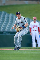 West Michigan Whitecaps third baseman Josh Lester (32) during a game against the Peoria Chiefs on May 9, 2017 at Dozer Park in Peoria, Illinois.  Peoria defeated West Michigan 3-1.  (Mike Janes/Four Seam Images)
