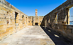 Cockatoo Island, Sydney, NSW, Australia. One of the sand stone building built by convicts. <br />
