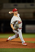 Palm Beach Cardinals relief pitcher Colton Thomson (36) delivers a pitch during a game against the Charlotte Stone Crabs on April 20, 2018 at Charlotte Sports Park in Port Charlotte, Florida.  Charlotte defeated Palm Beach 4-3.  (Mike Janes/Four Seam Images)