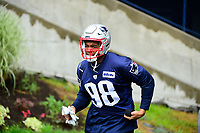 June 6, 2017: New England Patriots defensive lineman Trey Flowers (98) walks to practice in the rain at the New England Patriots mini camp held on the practice field at Gillette Stadium, in Foxborough, Massachusetts. Eric Canha/CSM