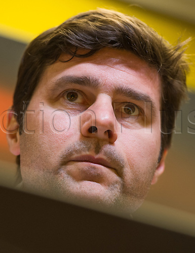 09.03.2016. Dortmund, Germany.  Tottenham's coach Mauricio Pochettino at a press conference at Signal Iduna Park in Dortmund, Germany, 9 March 2016. Dortmund meets Tottenham in Dortmund,Germany, 9 March 2016. Borussia Dortmund meets Tottenham Hotspur in the Europe League round of sixteen soccer match on 10 March 2016.