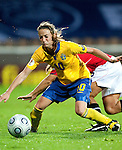 Kosovare Asllani, QF, Sweden-Norway, Women's EURO 2009 in Finland, 09042009, Helsinki Football Stadium.