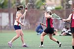 Santa Barbara, CA 02/18/12 - Maddy Kinzley (Arizona #16) and Maggie Burke (Santa Clara #7) in action during the Santa Clara-Arizona game at the 2012 Santa Barbara Shootout.  Santa Clara defeated Arizona 18-9.