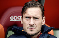 Roma&rsquo;s Francesco Totti sits on the bench for the start of the Italian Serie A football match between Roma and Napoli at Rome's Olympic stadium, 4 March 2017. <br /> UPDATE IMAGES PRESS/Isabella Bonotto