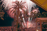 Fireworks for Australia Day at the Mangrove Hotel Resort in Broome.  <br /> This is the largest crowd I ever saw assembled in the entire 3 months of working in northern Australia--around 200 in the crowd.