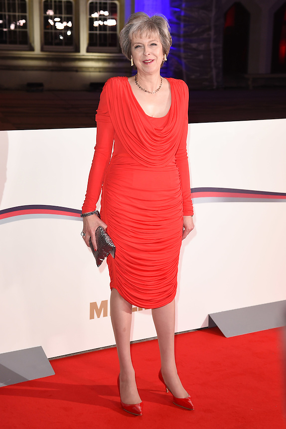 Prime Minister Theresa May<br /> at the Millies 2016, Guildhall, London.<br /> <br /> <br /> ©Ash Knotek  D3212  14/12/2016