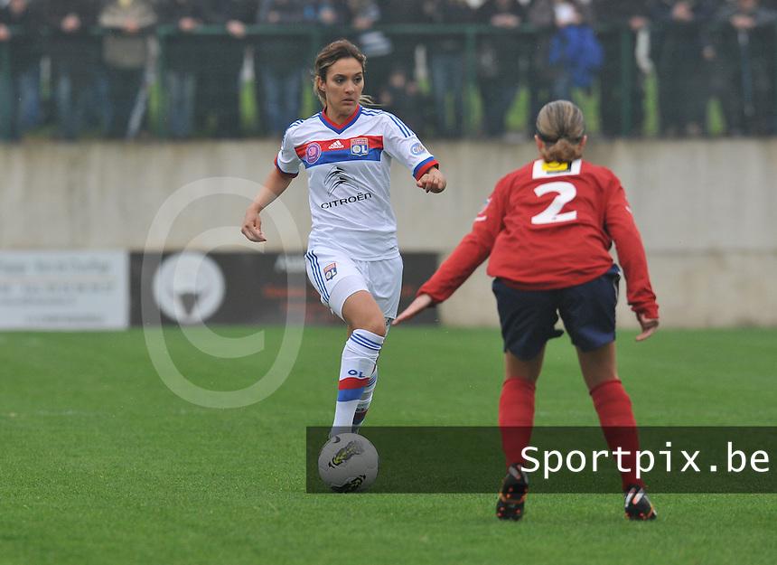 1/2 finale Coupe De France in Arras , stade Degouve : Arras - Olympique Lyonnais Lyon : Louisa Necib.foto JOKE VUYLSTEKE / Vrouwenteam.be