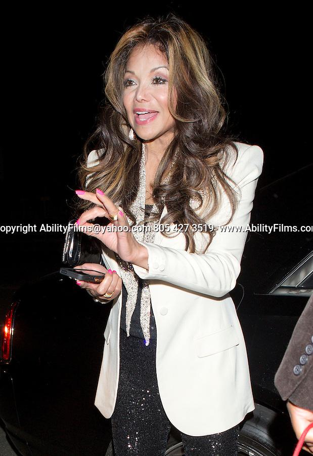 December 21st 2012 <br /> <br /> La Toya Jackson leaving Mastros restaurant in Beverly Hills <br /> <br /> AbilityFilms@yahoo.com<br /> 805 427 3519 <br /> www.AbilityFilms.com