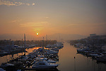 An early morning sun rise in Puerto vallarta  marina Mexico.