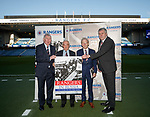 "john Greig, Willie Henderson, Dabie Wilson and author Jeff Holmes with the ""Rangers In Russia"" book detailing the famous 1962 tour behind the Iron Curtain"