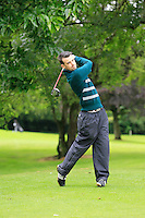 Stephen Brady (Co. Sligo) on the 3rd tee during round 1 of The Mullingar Scratch Cup in Mullingar Golf Club on Sunday 3rd August 2014.<br /> Picture:  Thos Caffrey / www.golffile.ie