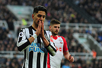 Ayoze Perez of Newcastle United  during Newcastle United vs Southampton, Premier League Football at St. James' Park on 10th March 2018