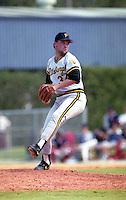 Pittsburgh Pirates pitcher Rick Reed (34) during spring training circa 1991 at Chain of Lakes Park in Winter Haven, Florida.  (MJA/Four Seam Images)