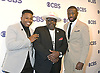 Marcel Spears, Cedric the Entertainer &amp; Sheaun McKinney from &quot;The Neighborhood&quot; attends the CBS Upfront 2018-2019 at The Plaza Hotel in New York, New York, USA on May 16, 2018.<br /> <br /> photo by Robin Platzer/Twin Images<br />  <br /> phone number 212-935-0770