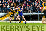 Colm Cooper Dr Crokes in action against Tadhg Morley Kenmare District in the Senior County Football Championship final at Fitzgerald Stadium on Sunday.