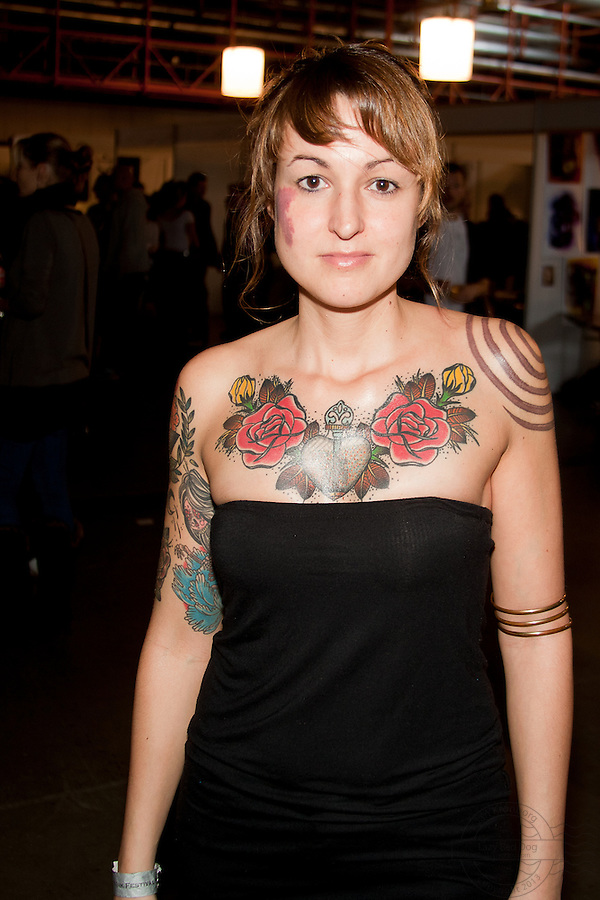 Snapshots from the Ink Festival in Copenhagen April 2011. Tree days of tattoo, tattooing and shows. Competition for traditional tattoos.