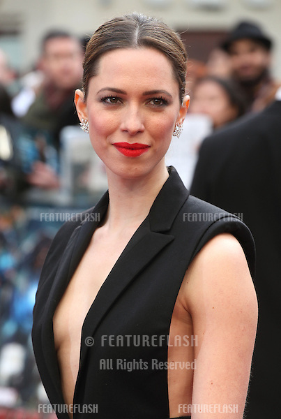 Rebecca Hall arriving for the Iron Man 3 Premiere, Odeon Leicester Square, London. 18/04/2013 Picture by: Alexandra Glen / Featureflash