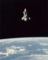 June 18 , 1983  file photo -  Space Shuttle Challenger going around the earth.