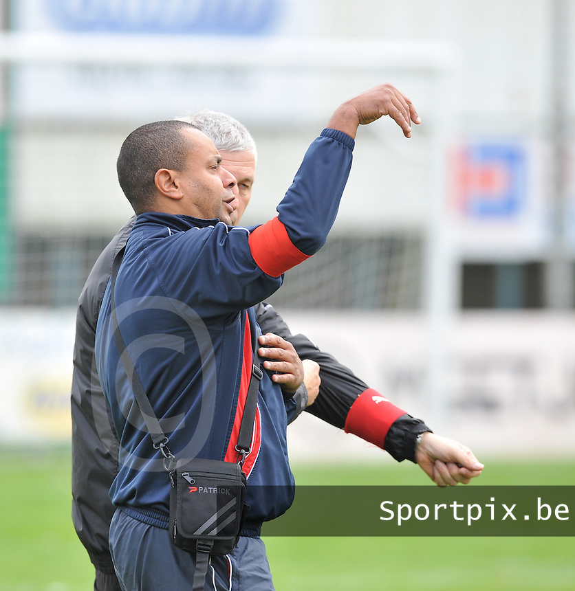 Club Brugge Dames - Dames Zulte Waregem : Guy Kiala en Jean-Marie Saeremans.foto DAVID CATRY / Vrouwenteam.be
