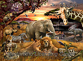 Lori, REALISTIC ANIMALS, REALISTISCHE TIERE, ANIMALES REALISTICOS, paintings+++++African Safari Puzzle_15_2015_72,USLS01,#A#, EVERYDAY ,puzzles
