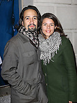 Lin-Manuel Miranda and Vanessa Nadal attending the Broadway Opening Night Performance of 'IF/THEN' at the Richard Rodgers Theatre on March 30, 2014 in New York City.