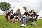 Mark Dowers with Ciaran, Sean and Gerard Collis on Day 1 of the Oxegen Festival, Punchestown, Co.Kildare...(Photo credit should read Jenny Matthews www.newsfile.ie)....This Picture has been sent you under the conditions enclosed by:.Newsfile Ltd..The Studio,.Millmount Abbey,.Drogheda,.Co Meath..Ireland..Tel: +353(0)41-9871240.Fax: +353(0)41-9871260.GSM: +353(0)86-2500958.email: pictures@newsfile.ie.www.newsfile.ie.