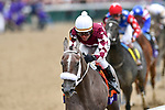 November 2, 2018: Jaywalk #7, ridden by Joel Rosario, wins the Tito's Handmade Vodka Juvenile Fillies on Breeders' Cup World Championship Friday at Churchill Downs on November 2, 2018 in Louisville, Kentucky. Michael McInally/Eclipse Sportswire/CSM