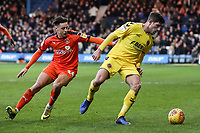 Fleetwood Town's Ched Evans competing with Luton Town's Harry Cornick<br /> <br /> Photographer Andrew Kearns/CameraSport<br /> <br /> The EFL Sky Bet League One - Luton Town v Fleetwood Town - Saturday 8th December 2018 - Kenilworth Road - Luton<br /> <br /> World Copyright &copy; 2018 CameraSport. All rights reserved. 43 Linden Ave. Countesthorpe. Leicester. England. LE8 5PG - Tel: +44 (0) 116 277 4147 - admin@camerasport.com - www.camerasport.com