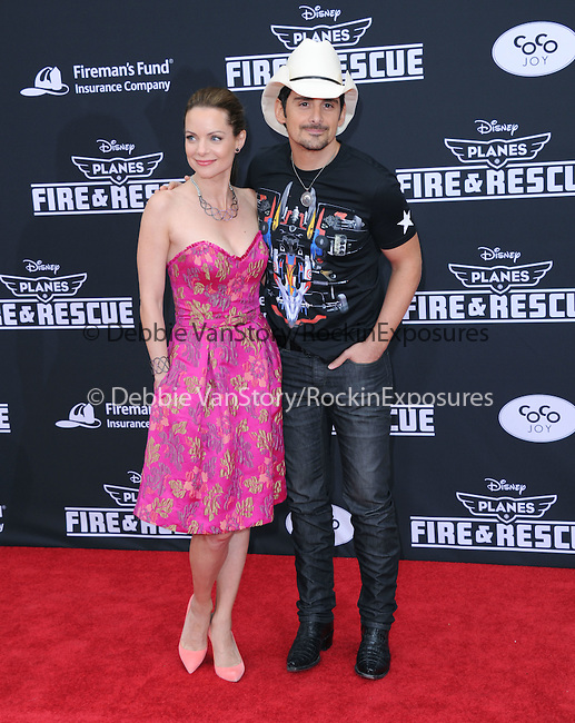 Brad Paisley and Kimberly Williams-Paisley attends The Disney PLANES: FIRE & RESCUE Premiere held at The El Capitan Theatre in Hollywood, California on July 15,2014                                                                               © 2014 Hollywood Press Agency