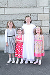 Hannah Kirwan with Clodagh Clinton, Mya Kirwan and Zoe Kirwan at the St. Brigid's Communion in the Lourdes Church...Photo NEWSFILE/Jenny Matthews.(Photo credit should read Jenny Matthews/NEWSFILE)....This Picture has been sent you under the condtions enclosed by:.Newsfile Ltd..The Studio,.Millmount Abbey,.Drogheda,.Co Meath..Ireland..Tel: +353(0)41-9871240.Fax: +353(0)41-9871260.GSM: +353(0)86-2500958.email: pictures@newsfile.ie.www.newsfile.ie.FTP: 193.120.102.198.