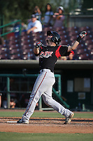 A.J. Kennedy (29) of the Lake Elsinore Storm bats against the Inland Empire 66ers at San Manuel Stadium on July 31, 2016 in San Bernardino, California. Inland Empire defeated Lake Elsinore, 8-7. (Larry Goren/Four Seam Images)