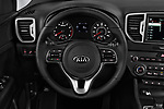 Car pictures of steering wheel view of a 2018 KIA Sportage EX 5 Door SUV Steering Wheel