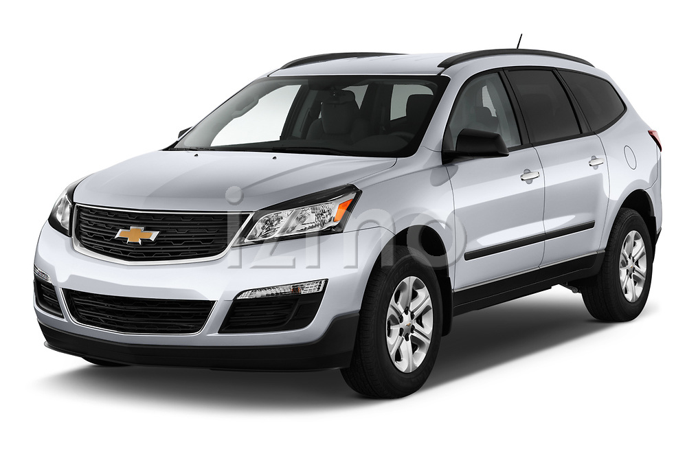 2017 Chevrolet Traverse LS-FWD 5 Door SUV Angular Front stock photos of front three quarter view