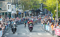 Picture by SWpix.com - 04/05/2018 - Cycling - 2018 Tour de Yorkshire - Stage 2: Barnsley to Ilkley - Yorkshire, England - The peloton comes through Ilkley.