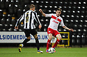 Greg Tansey of Stevenage is tackled by Gary Liddle of Notts County.  Notts County v Stevenage- npower League 1 -  Meadow Lane, Nottingham - 2nd October, 2012. © Kevin Coleman 2012