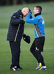 Ian Black gives Kenny McDowall's head a wee polish