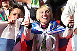 18 JUN 2010:  Slovenia fans in the stands.  The Slovenia National Team played the United States National Team at Ellis Park Stadium in Johannesburg, South Africa in a 2010 FIFA World Cup Group C match.