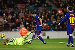 Goal of Luis Suarez, FC Barcelona v Deportivo de la Coruña en el Camp Now, Barcelona, Jornada 16, 17 Diciembre 2017. Photo Martin Seras Lima