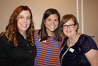NWA Democrat-Gazette/CARIN SCHOPPMEYER Amenda Lacy (from left), Nicole Urban and Brenda Held attend the Out of the Box Luncheon.